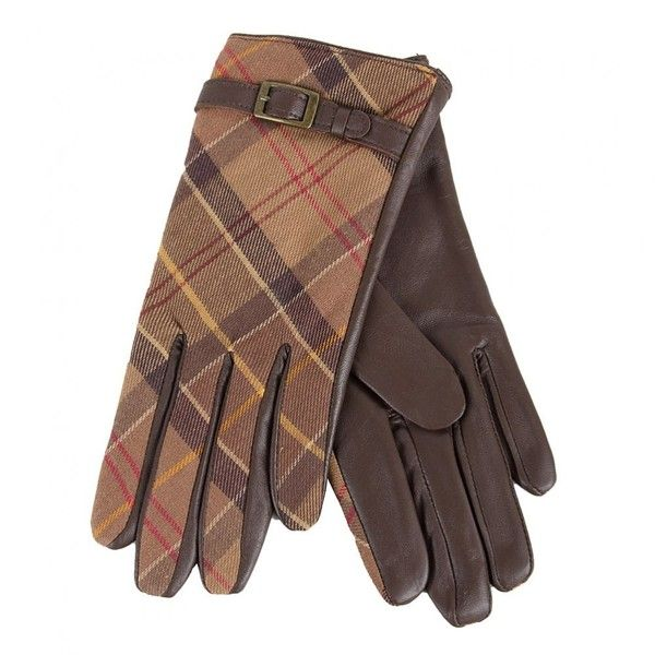 Barbour Womens Brown Valerir Tartan Leather Gloves ($31) ❤ liked on Polyvore featuring accessories, gloves, lined leather gloves, brown leather gloves, real leather gloves, lined gloves and barbour gloves