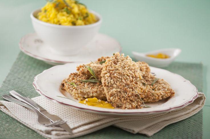 Bifes de frango com amêndoa no forno. Descubra como cozinhar Bifes de frango com amêndoa no forno de maneira prática e deliciosa com a Teleculinária!