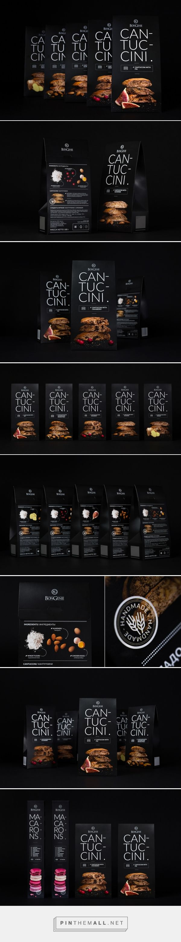 Cantuccini packaging on Behance by Fabula Branding Minsk, Belarus curated by Packaging Diva PD. Premium design of hand-made cantuccini (biscotti) for TM BonGenie.