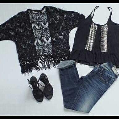 Top Negro y plata