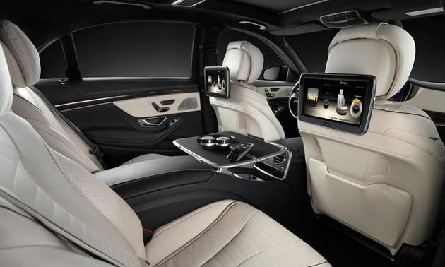 mercedes suv rear seating | 2014 Mercedes-Benz S-Class interior rear seats scr Photo by: Mercedes ...