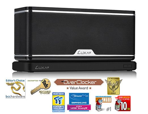 LUXA2-GroovyW Bluetooth Speaker with Wireless Charging Station and APP