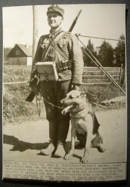 Finnish Soldier and companion