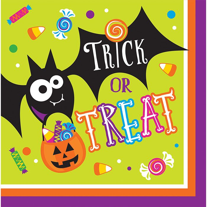 descriptions gone batty lunch napkins design gone batty features halloween ships within 4 business days - Halloween Party Supplies