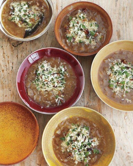 Caramelized-Shallot Soup Recipe