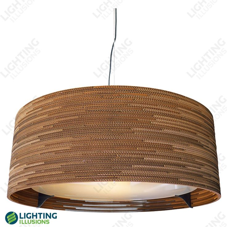 Marantz Layered Corrugated Recycled Cardboard Pendant E27