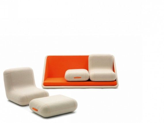 U201cConcentre De Vieu201d Modular Lounge Seating Designed By Matali Crasset For  Campeggi.