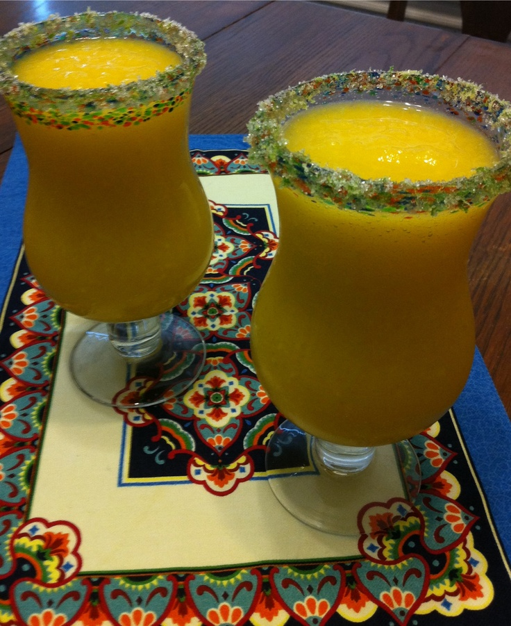 We made The Pioneer Woman's Mango Margarita's & they are delish!!!