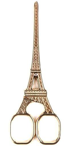 Eiffel Tower Scissors from Bell'occhio, work, office, school, office supplies, school supplies, work supplies, brass scissors, travel, travel themed office accessories, eiffel tower, eiffel tower scissors, scissors, france, paris