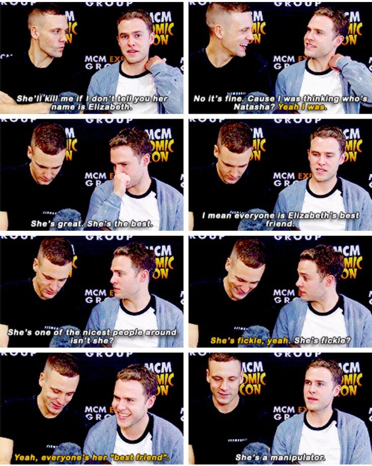Iain and Nick. The dynamic duo talking about Elizabeth MCM. Marvel's Agents of S.H.I.E.L.D.