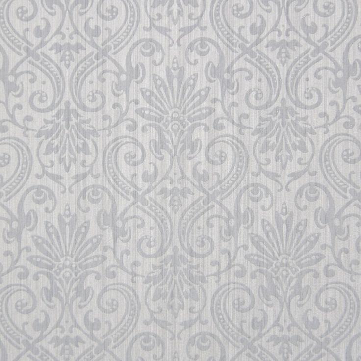 Tapet textil gri floral 072395 Sentiant Pure Kolizz Art