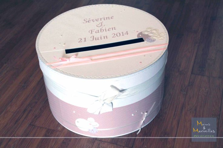 17 best images about mariage 2015 urne de mariage on for Boite shabby chic