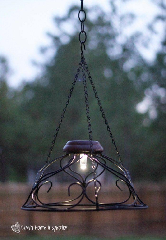 $10 And 10 Minute Solar Chandelier