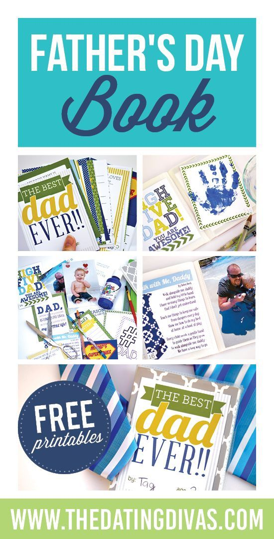 The perfect DIY Father's Day gift! I LOVE this free Father's Day Book from The Dating Divas! {www.TheDatingDivas.com}