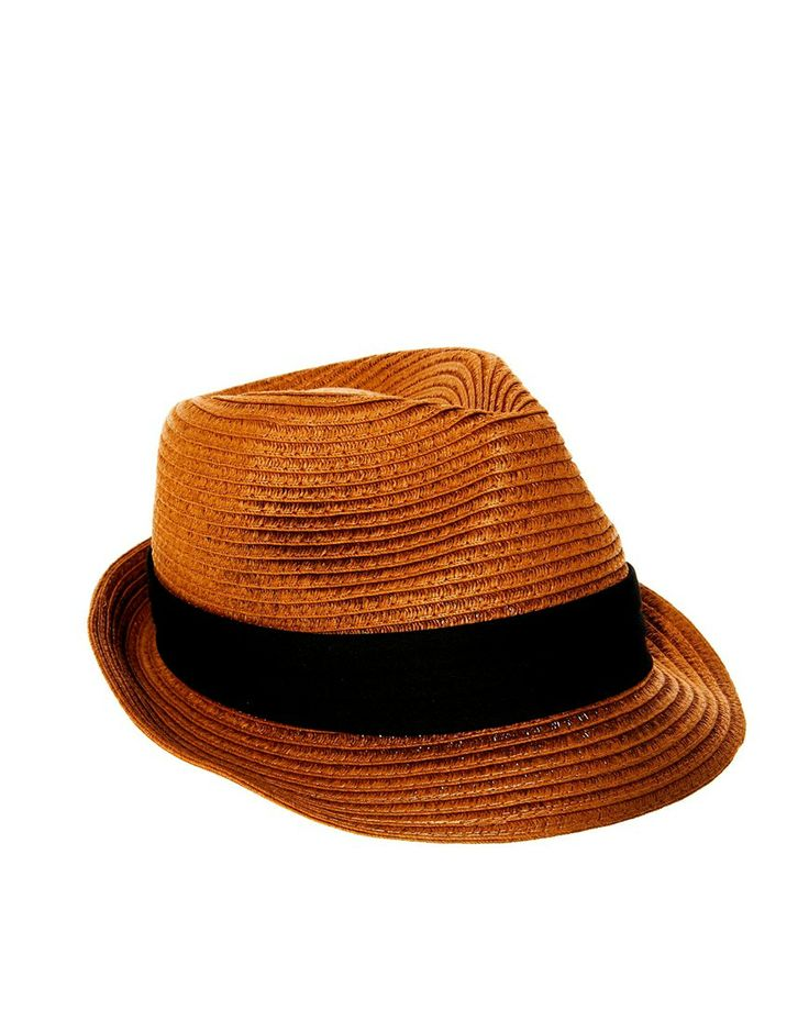 Selected Straw Fedora Hat