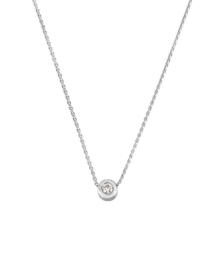 Joy de la Luz initial collier 14K gold | with 0.05ct diamond