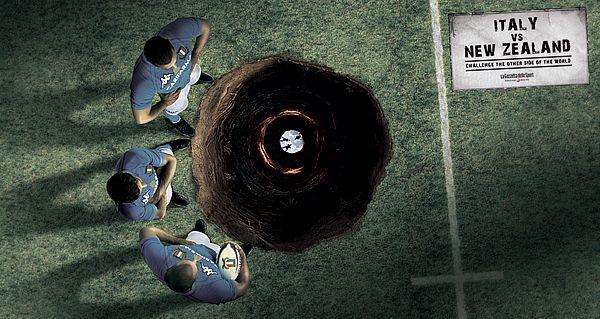 La Gazzetta Dello Sport: Rugby – Italy vs New Zealand,  Advertising Agency: McCann Erickson Italy