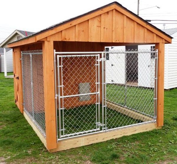 17 best ideas about large dog house on pinterest dog for Dog kennel shed combo plans