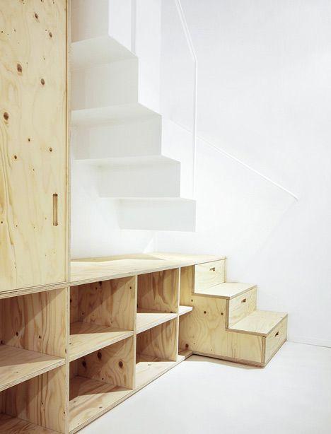 : Studios Home, Bathroom Design, Under Stairs Storage, Basements Stairs, Bathroom Interiors Design, Storage Ideas, Arquitectura G, Interiors Design Bathroom, Plywood Storage