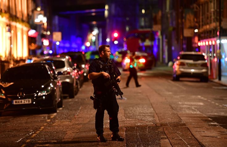 A van has reportedly hit pedestrians on London Bridge tonight.  Armed police are understood to be in the area, with one eyewitness saying between 15 and 20 people may have been hit by the vehicle.  There are reports of a number of casualties as a result of an incident that possibly involved a vehicle and a knife in London Bridge, British Transport Police said.