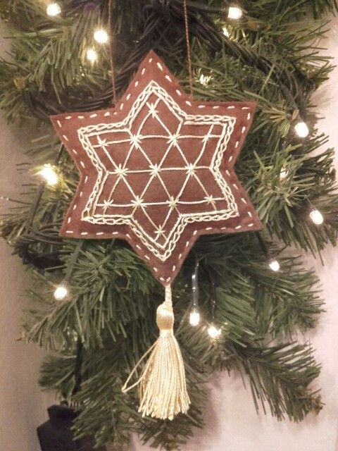 Felt - Christmas - gingerbread ornament.