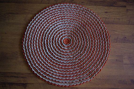 Crochet round rug 32'' 82 cm by AnuszkaDesign on Etsy, $55.00