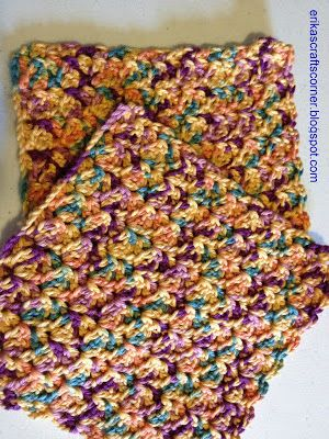 Beautiful crochet dishcloth...My mother in law used to make us these.  LOVE.