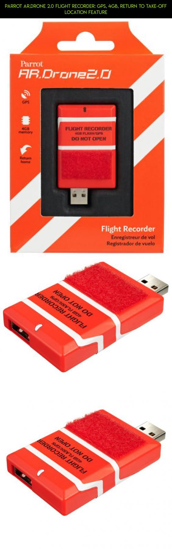 Parrot AR.DRONE 2.0 Flight Recorder: GPS, 4GB, return to take-off location feature #plans #drone #fpv #products #kit #gadgets #camera #parts #racing #4 #drone #tech #parrot #technology #shopping