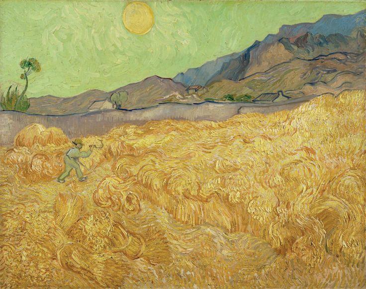 Campo d'orzo con mietitore Vincent Van Gogh  1889