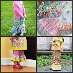 Capris Ruffle Pants Girls 0 - 10 years Sewing Pattern PDF Funky Fabrix - by FunkyFabrixBrisbane on Craftumi