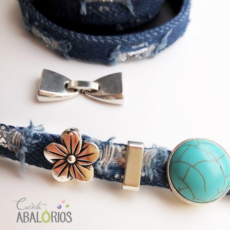 Fornituras para pulseras y colgantes en www.cuentaabalorios.com #abalorios #fornituras #piezasdebisuteria #bisutería