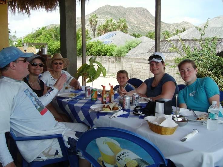 Lunch after a diving at Cabo Pulmo National Marine Park