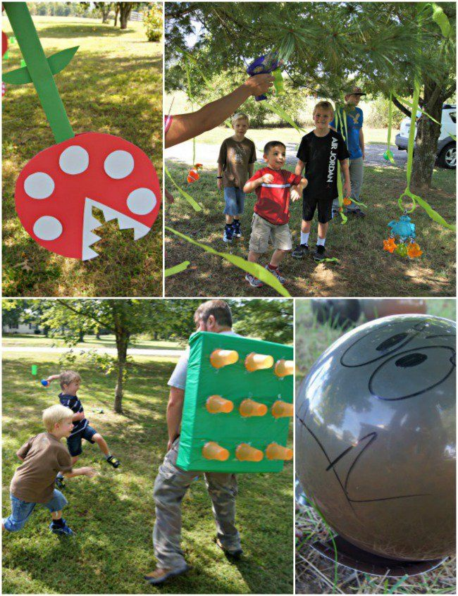 DIY Super Mario Party with Obstacle Course stations
