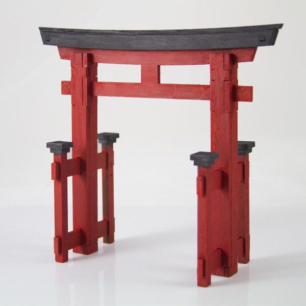 A torii is a traditional Japanese gate is most commonly found at the entrance of or within a Shinto shrine. This 28mm piece will look great on your Japanese themed table. Dimensions: 6 in. Tall, 7 in. Wide (at peak) , 2.75 in. Long.This laser cut 3mm MDF piece comes unassembled and unpainted.Assembly video is available at our YouTube channel.