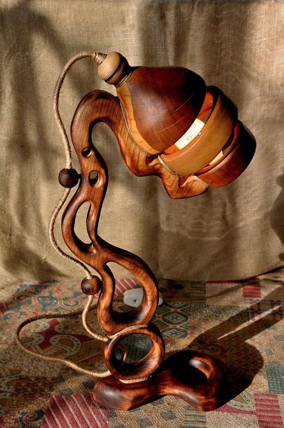 Diogenes of Sinope Distinct Wooden Handcrafted Lamp by MiroWoody