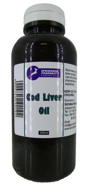 SPRINGBOK CODLIVER OIL 200ML