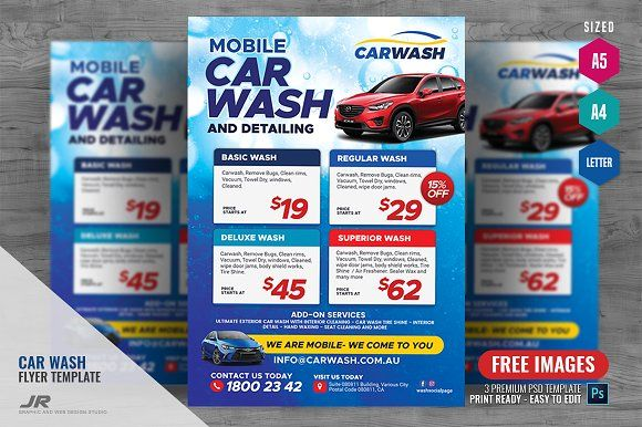 Mobile Car Wash Flyer Mobile Car Wash Car Wash Car Wash Business