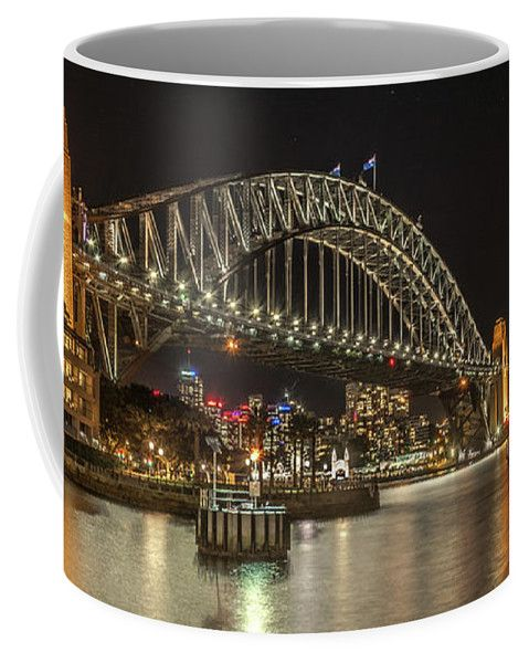 Sydney Coffee Mug featuring the photograph Sydney Harbour At Night by Racheal Christian