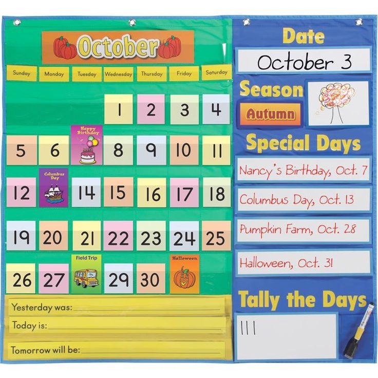 Kindergarten Calendar Pocket Chart : Best bulletin boards images on pinterest