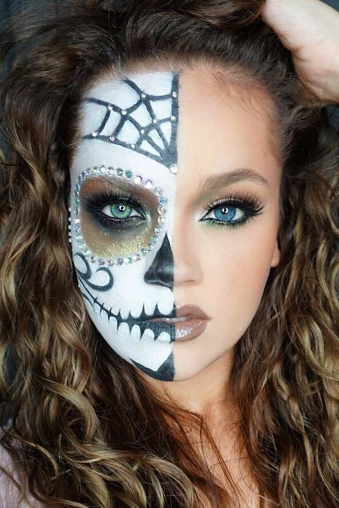 best 25 candy skull face paint ideas on pinterest candy skull costume skull candy makeup and. Black Bedroom Furniture Sets. Home Design Ideas