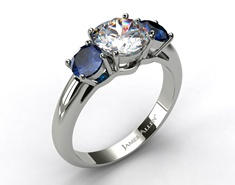 Saffire and Diamond Ring~my birthstone