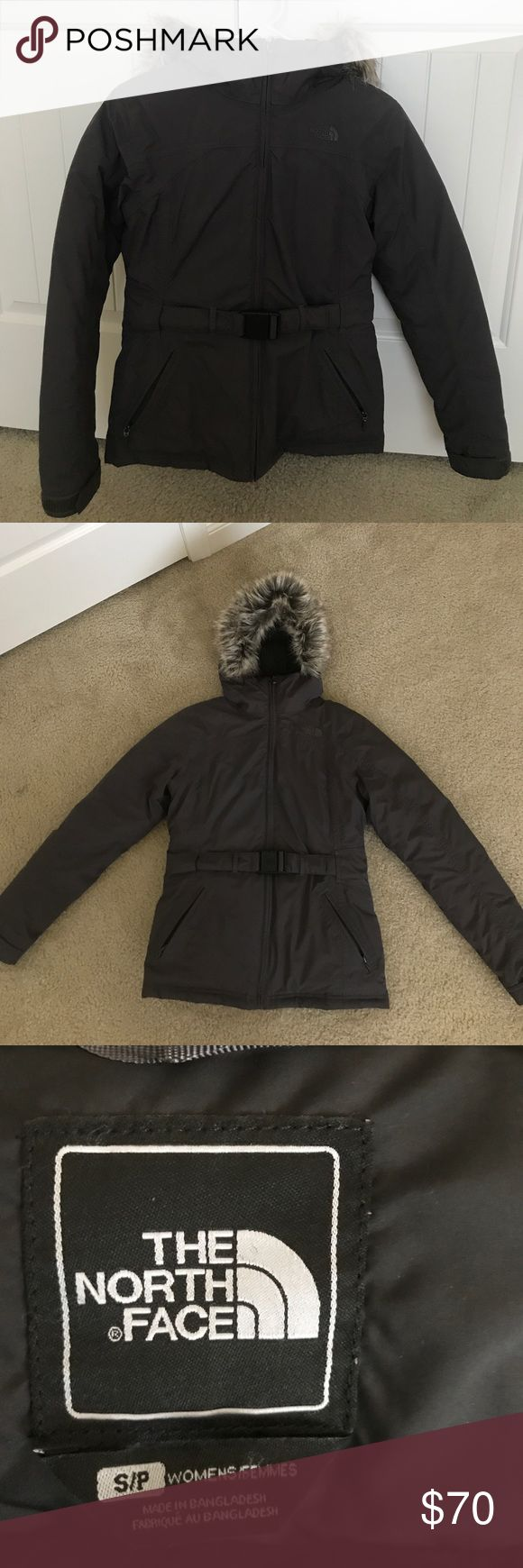 North Face Jacket The North Face Hyvent Jacket with Removable Fur hoodie has a good condition. Size S. The North Face Jackets & Coats