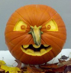 pumpkin faces useing stem for the nose - Google Search