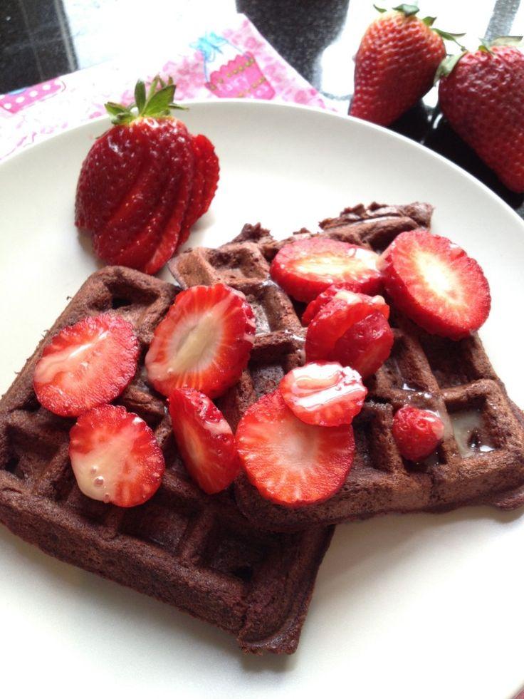 Beetroot Chocolate Waffles (Paleo)  #justeatrealfood #thesaffrongirl