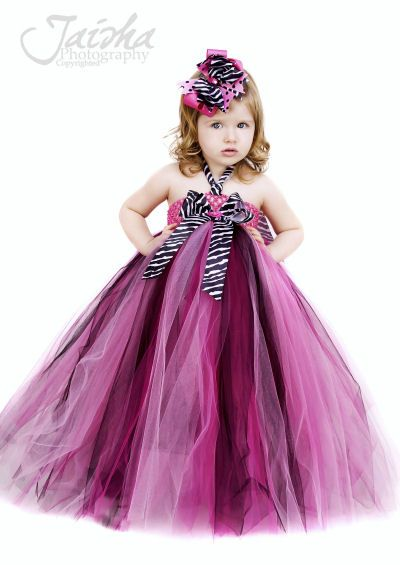 Lil Miss Haute Glamour Girls Zebra Tutu Dress, Girls Animal Print Dresses, Zebra Outfits, Custom Boutique Zebra Outfit, Designer Dresses, Hot Pink, Shocking Pink Tutus, Tutu Outfits, Birthday, Punky Rock, Glamour, Posh, Couture, Infant, Toddler, Newborn