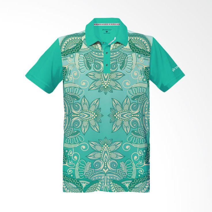 Svingolf Batik Lotus Polo Green Mint Baju Golf