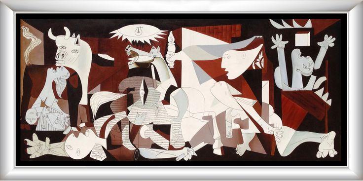 Guernica Cuadro decorativo realizado por su creador como homenaje al famoso pintor Picaso Medida: 1.00×2.30 mts.