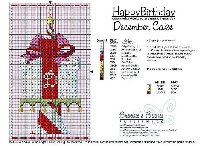 December Birthday Cake