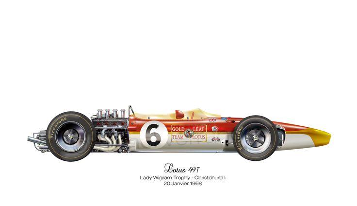 Lotus 49T - Christchurch (Tasman Series) - 1968