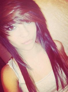 emo layered haircuts with side bangs - Google Search